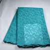 French voile lace nigerian green/african mesh lace 2015 for winter Christmas party dress FY3088