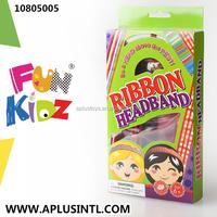 Kids Craft DIY Girls Toys Ribbon Headband Kits