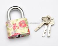 2015 New design Round corner Vane key with mini color safety padlock
