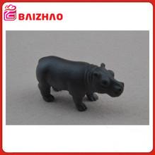 plastico juguetes personalizado OEM/ODM, juguetes PVC plastico animales ipopotamo