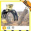 Excavator attachment hydraulic Wood log grapple, rotating grapple