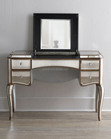 antique drawes makeup console table with mirror, dresser/dressing table design for bedroom