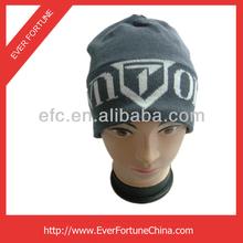 Nuevo 100 esquí de acrílico cálido gorro de invierno/personalizada tejido lable gorro de invierno