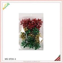 christmas holiday plastic poly machine star bow