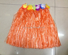 High quality plastic handmade cheap custom Hawaii grass skirt for party decoration