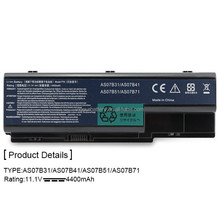 New Laptop Battery for Acer 5520 5720 5920 6920 6920G 7520 7720 7720G 7720Z series replace for AS07B31 AS07B41 AS07B42