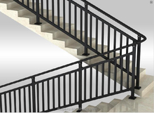 Aluminum handrails for outside steps,handrails for interior stairs
