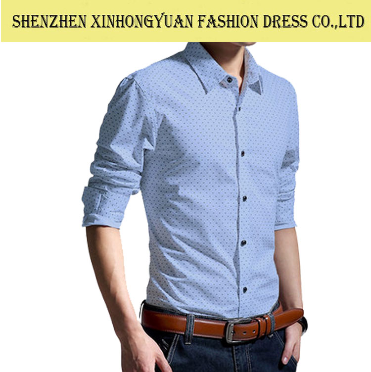 Wholesale Clothing Garment Mens Shirts Latest Style Shirt