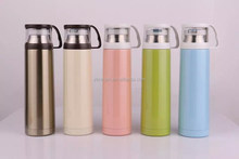 double wall hot water bottle vacuum flask with a cup