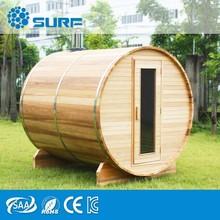 2015 New Design Comfortable Outdoor Barrel Sauna Steam Room