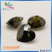 Facets Gems Top Selling Gems Stone Prices Checker Heart Cut Dark Peridot Zircon Stone