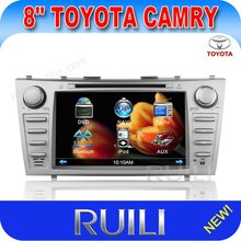HOT 2 din 8'' HD digital touch screen car radio dvd cd player with GPS for Toyota Camry