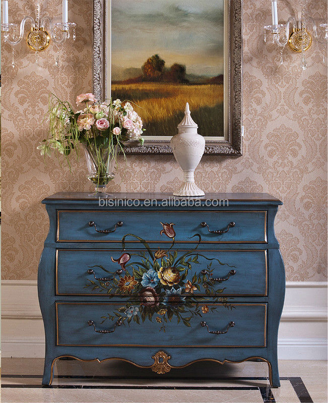 Glorious Art Decor Drawer Console Table, Decorative Hand Painted Chest ...