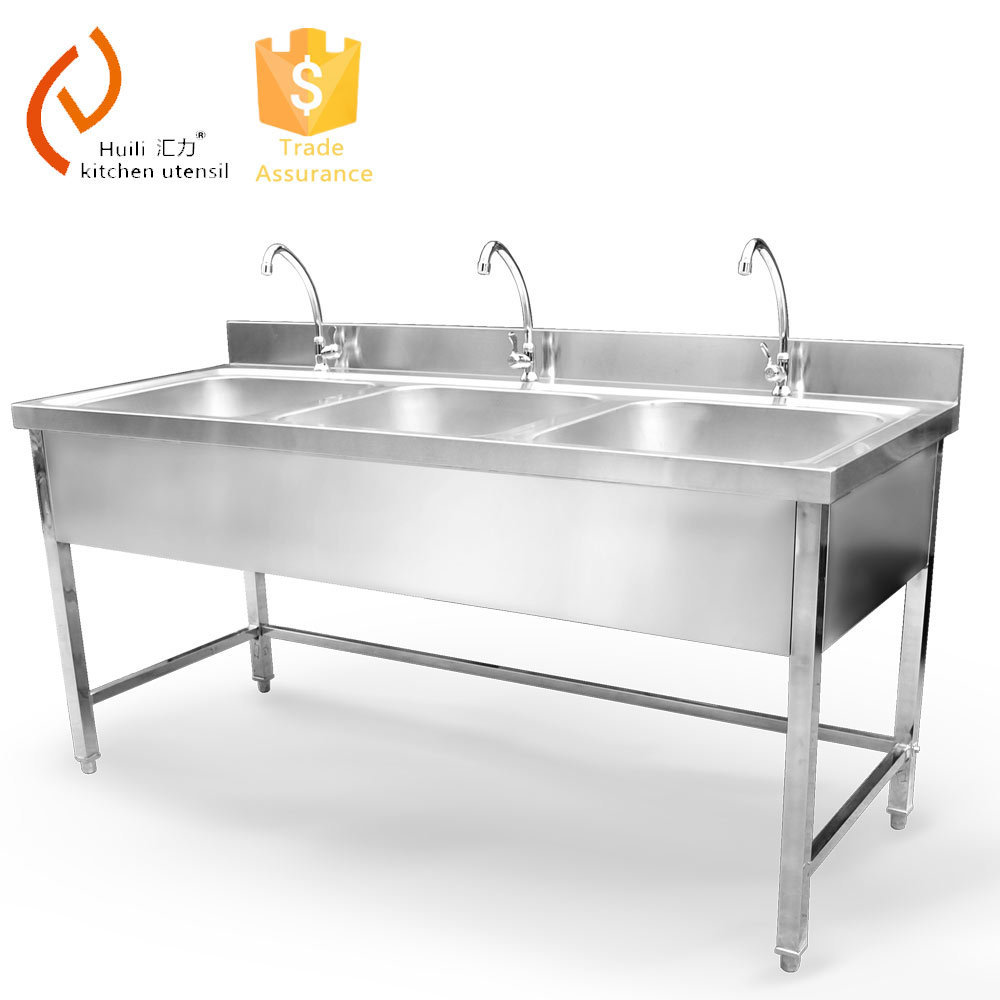 3 Bowl Kitchen Sink : Triple Bowl Kitchen Sink - Buy Stainless Steel Kitchen Sink,Triple ...