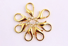 Wow!! Wholesale Jewelry findings alloy gold brass lobster clasp for DIY necklaces making!!