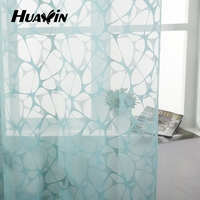 wholesale double color warp knitting lace curtain fabric