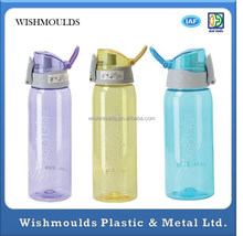 Customized FDA High quality leak-proof clear plastic, casual sports travel mug /tea cup plastic injection molding