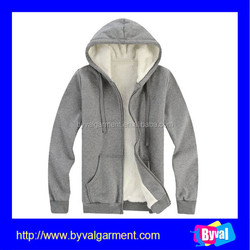 Cheap Plain Hoodies Grey Zipper Hoodie Jacket thick fleece Hoodies