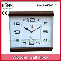 Woodpecker square wall clock modern design glass wall clock