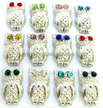 Owl floating charms fashion animal charms for living memory floating lockets