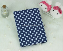 360-degree Swivel wave point Folio PU Leather Smart Stand Case Cover Skin for iPad Air(Blue)