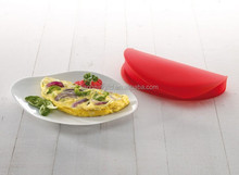 silicone omelette maker mold pan microwave use easy make delicious