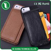 New Arrival!! PU leather back cover case card slot phone case for iphone 4 4s