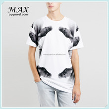 Men t-shirts water printed with snake mixed colors t-shirts water print fabric