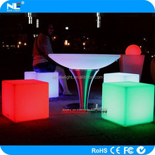 WATERproofed IP 65 cube stool led bar cube color change magic cube in wedding display partu happy night meeting
