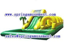 Palm tree inflatable slide, jungle water slide, children inflatable pool with slide SP-PS015