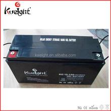 Solar power lead acid true gel battery 12v150ah