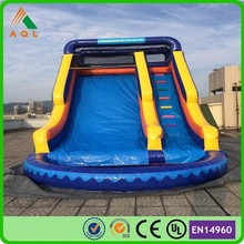 18ft high customized made blue inflatable wate slide pool ,water slides,