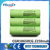 Top hot-sale 3.7V Li-ion cell CGR18650CG 2250mAh li ion battery cells 10A discharge current