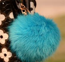Todos los colores reales de piel de mapache bola de accesorios/de bastoneras pompón