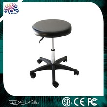 Black Facial Rubber Wheel Salon Spa Tattoo Stool Equipment Chairs,portable and professional tattoo chair beauty chair Tattoo