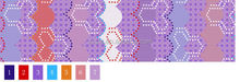 55 gsm/230cm width pigment printed polyester fabric for home textile with purple color geometric figures printed