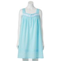 women's solid print cotton nightgown