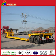 2/3/4 axles 60ton 80Ton 100ton detachable gooseneck lowboy trailer for sale