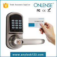 electronic security lock with code and card