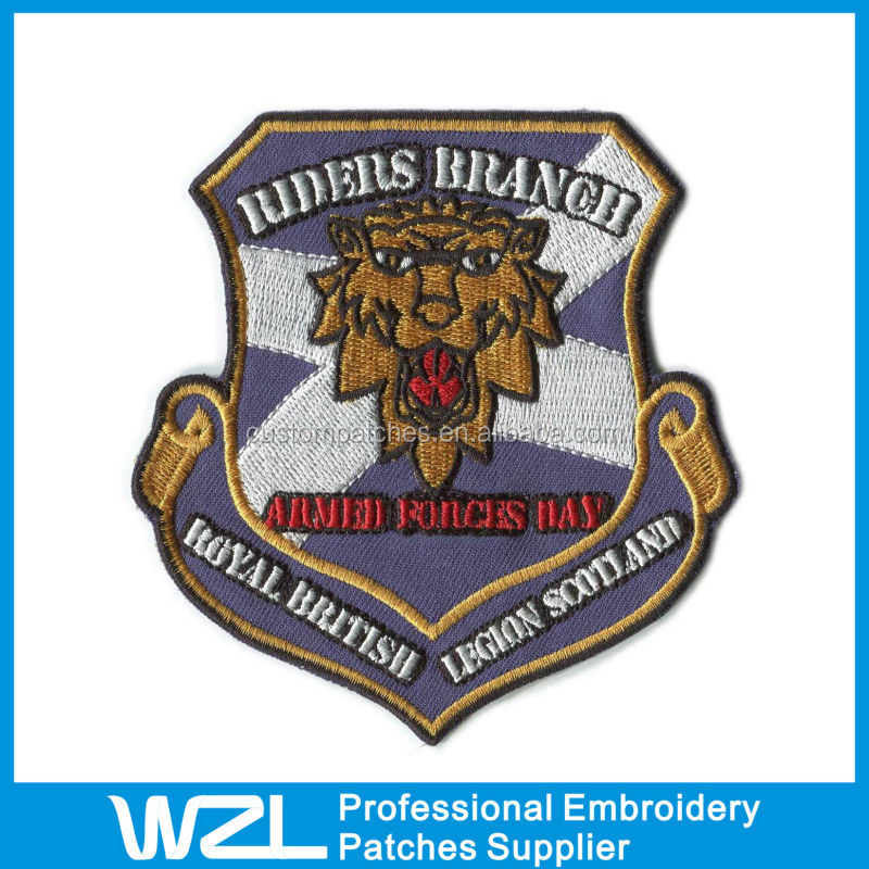 Wholesale custom cheap iron on embroidered patches