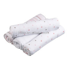 """Muslin Dream Blanket Swaddle Diaper 100% Cotton Super Soft 47x47"""" After Washed"""