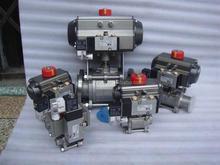high temperature high pressure gas 3pc pneumatic actuator ball valve 2000WOG