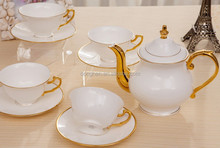 new china products for sale wholesale gold plated tea set