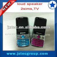 2013 cheap quad band 2 sim cards TV cell phone Q9