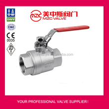 2PC Stainless Steel Ball Valves Threaded Ends 1000WOG Valves