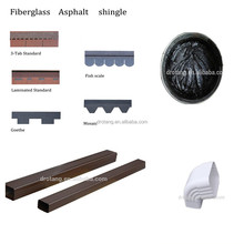 metal roofing shingle/bitumen mastic/rain drainage