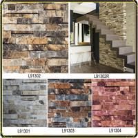 good quality 3d brick wallpaper for home decoration