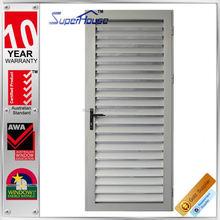 aluminum blades louvre doors and windows Residential House with WERS aluminium vented exterior door