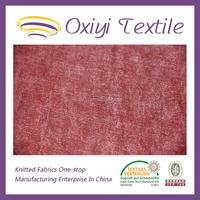100poly knitting two way plain matt watermelon red velvet fabric