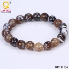 brown fire agate Natural stone beads elastic bracelet,gemstone beads stretch bracelet,semi precious stone elastic bracelet